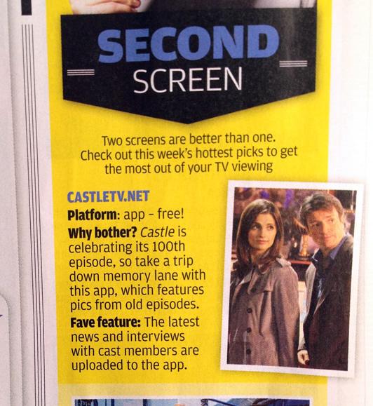 TV Week Castle App Feature